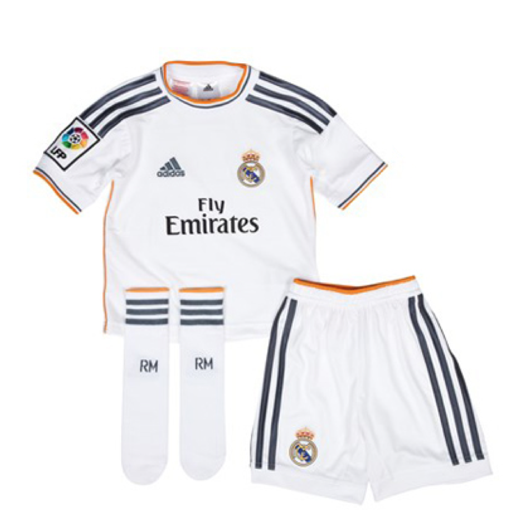 2013/14 Real Madrid Home Mini Kit
