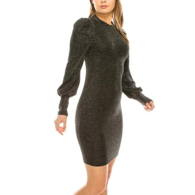 Sparke Puff Sleeve Midi Dress