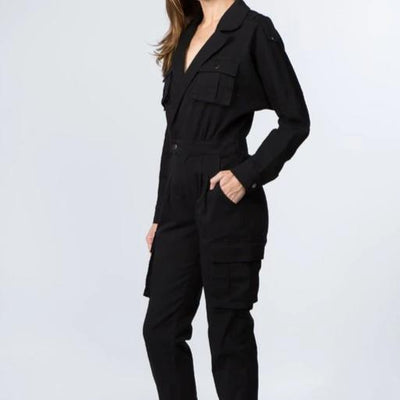 Lexi Black Denim Jumpsuit