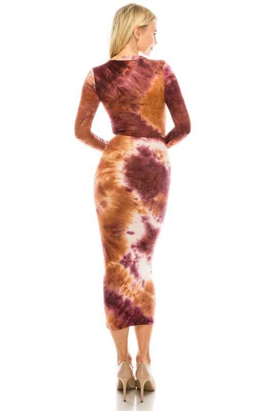 Tye Dye 2 Pc Skirt Set