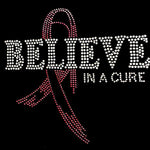 BELIEVE IN A CURE BREAST CANCER AWARENESS BLING TEE!