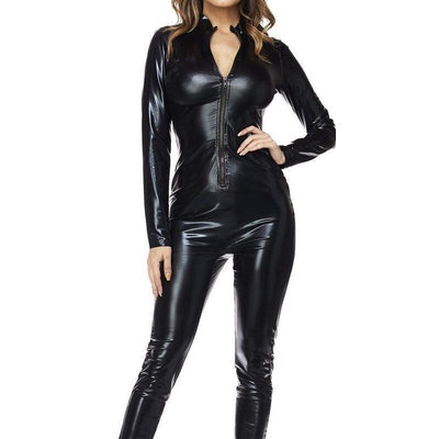 Leather Zip Front Cat