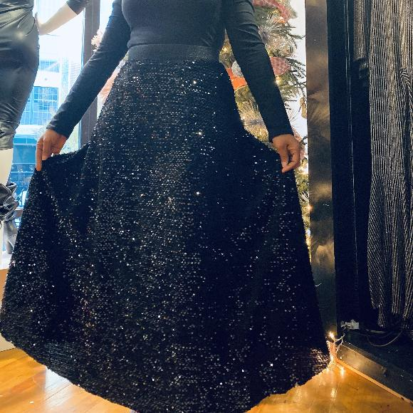 Sequin Holiday Maxi Skirt