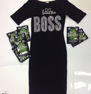 IASO TEA BOSS BODY CON DRESS