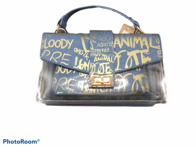 Graffiti Clear Denim Bag