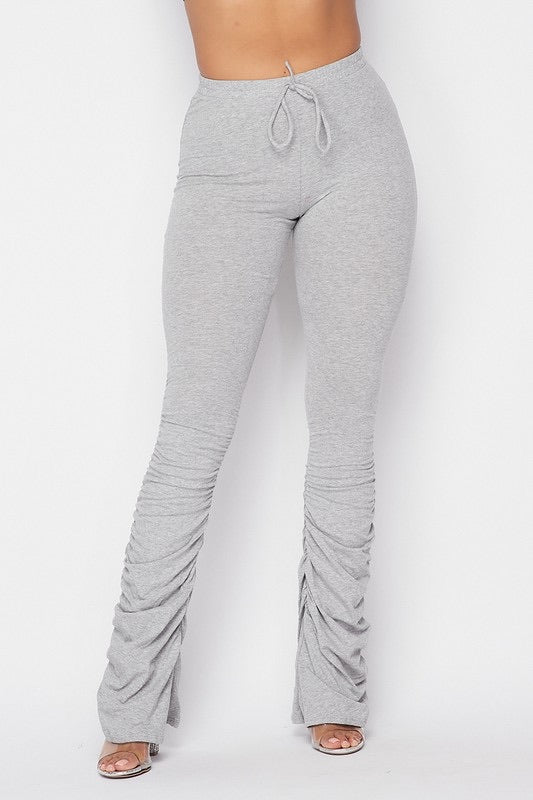 Stacked Cotton Joggers