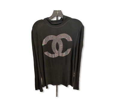 Black C Long Sleeve Top