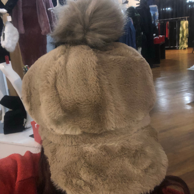 FUR HAT with Ball