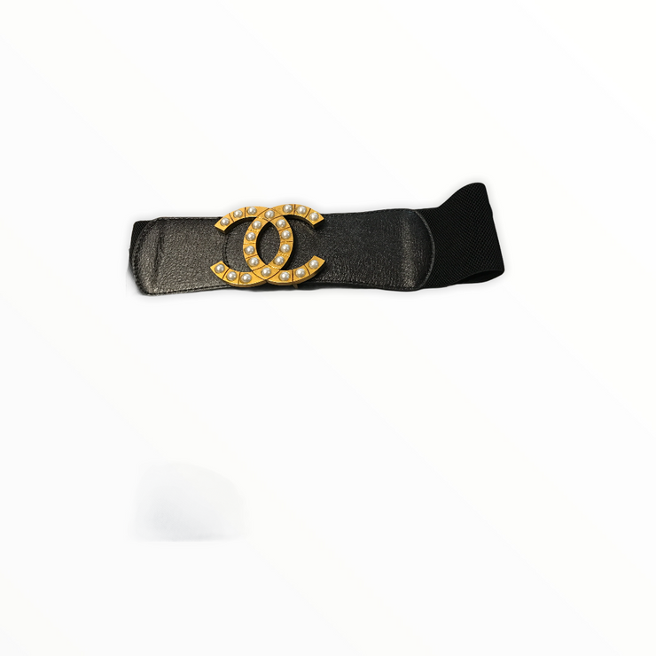 Large Letter Stretch Belt