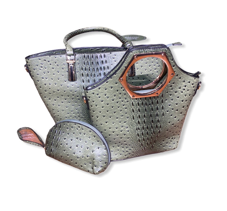 Ostrich Bag 3 Pc Set