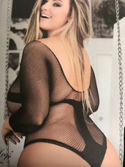 Queen  Fishnet Bodysuit