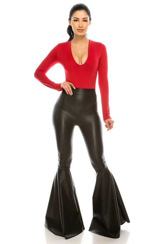 Leather Bellbottoms