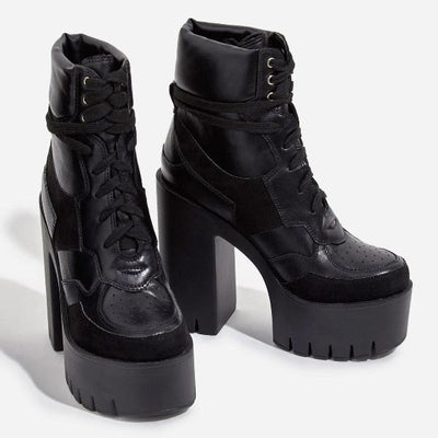 Platform Lace Up Bootie