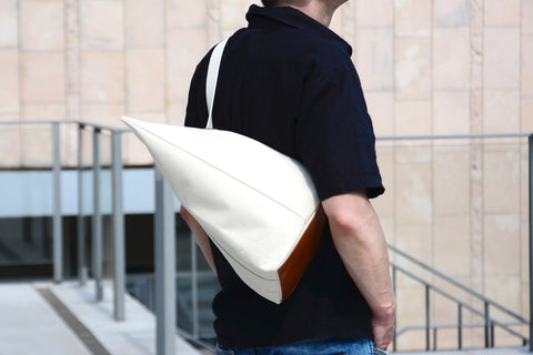 canvas leather sack