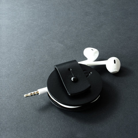 cable cord & earphone organiser, black