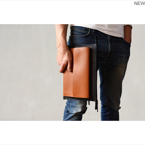 iPad Pro tan leather case