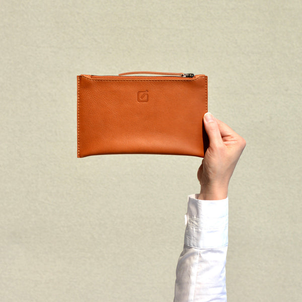 SMALL CLUTCH, tan