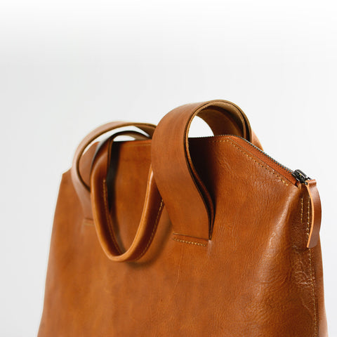 EVERYDAY LEATHER TOTE, tan