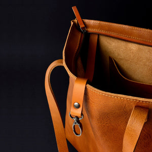 SIMPLE LEATHER TOTE