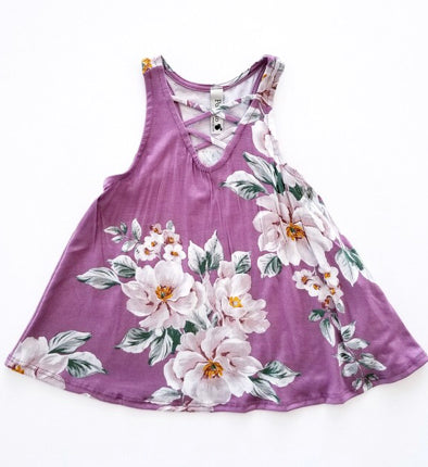 Floral Criss Cross Tank Top