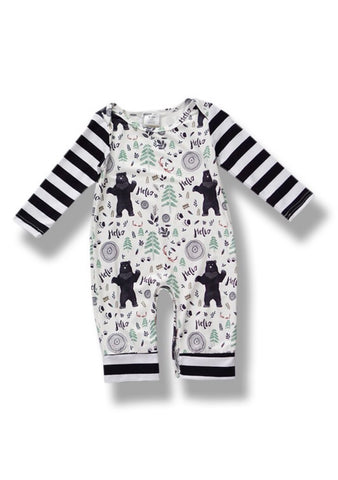 Stripe Bear Onesie