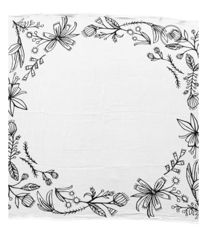 Wildflower Border Swaddle