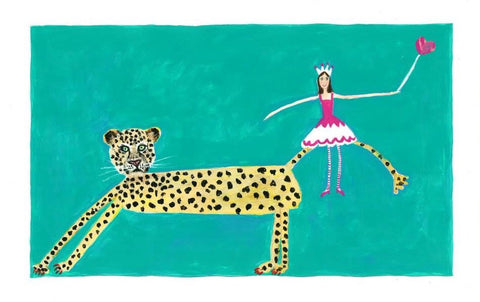 Leopard with Fairy Print