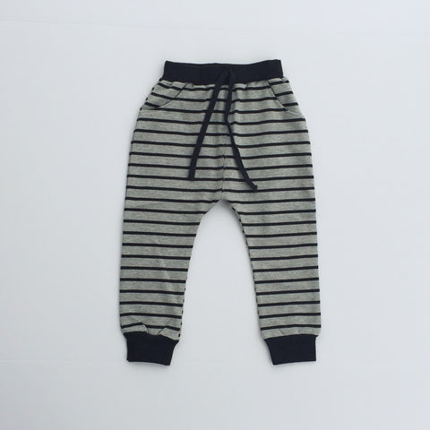 Striped Harem Pants - Mulitple Colors