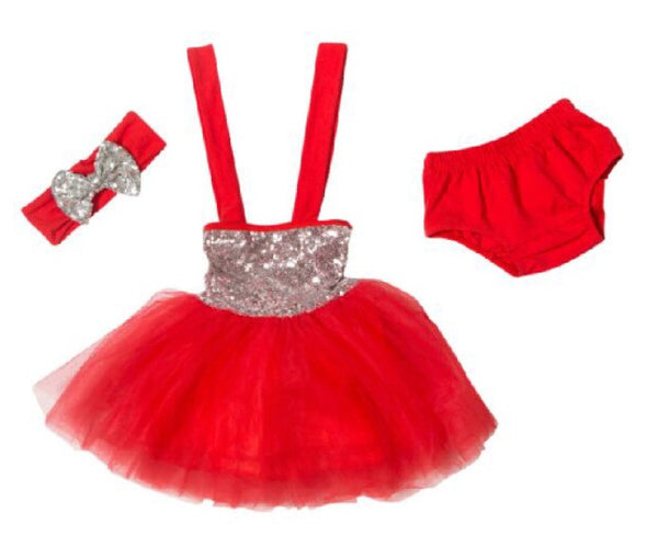 Sequin tutu dress - Red
