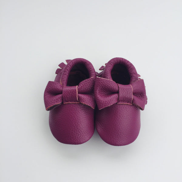 Purple Bow moccasins