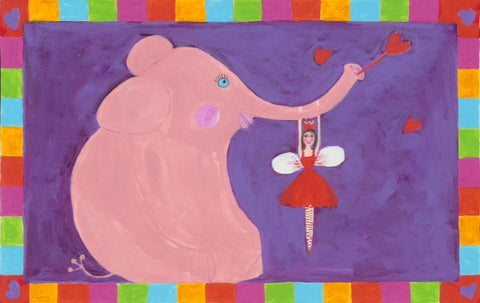 Pink Elephant and Fairy Placemat