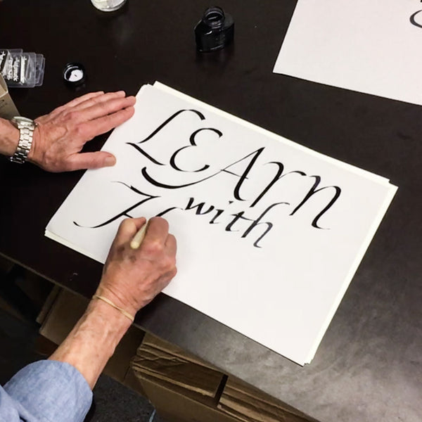 Calligraphy workshop with Douglas Bevans at Hato Press: Saturday 4th February 12.00 — 14.30