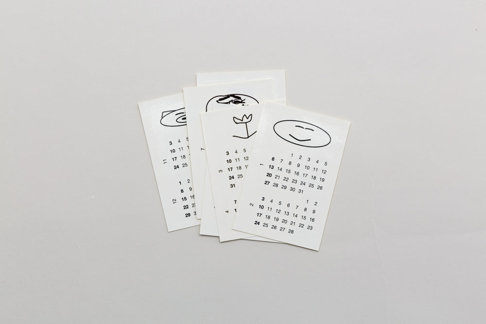 Calendar Stickers by Masanao Hirayama