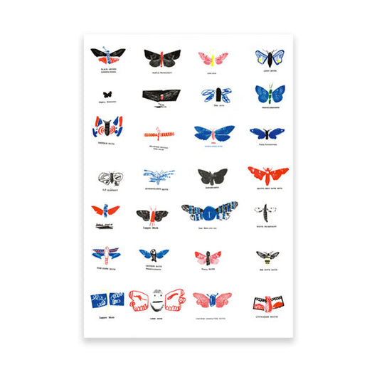 Moths' Artist Print by Joe Gamble