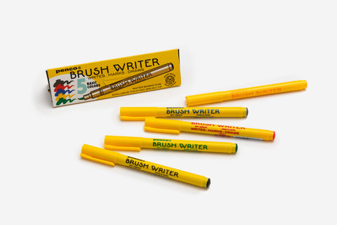 Hightide Penco Brush Writer Pens - Set of 5