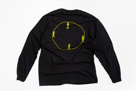 Himaa Black Long Sleeve T-Shirt
