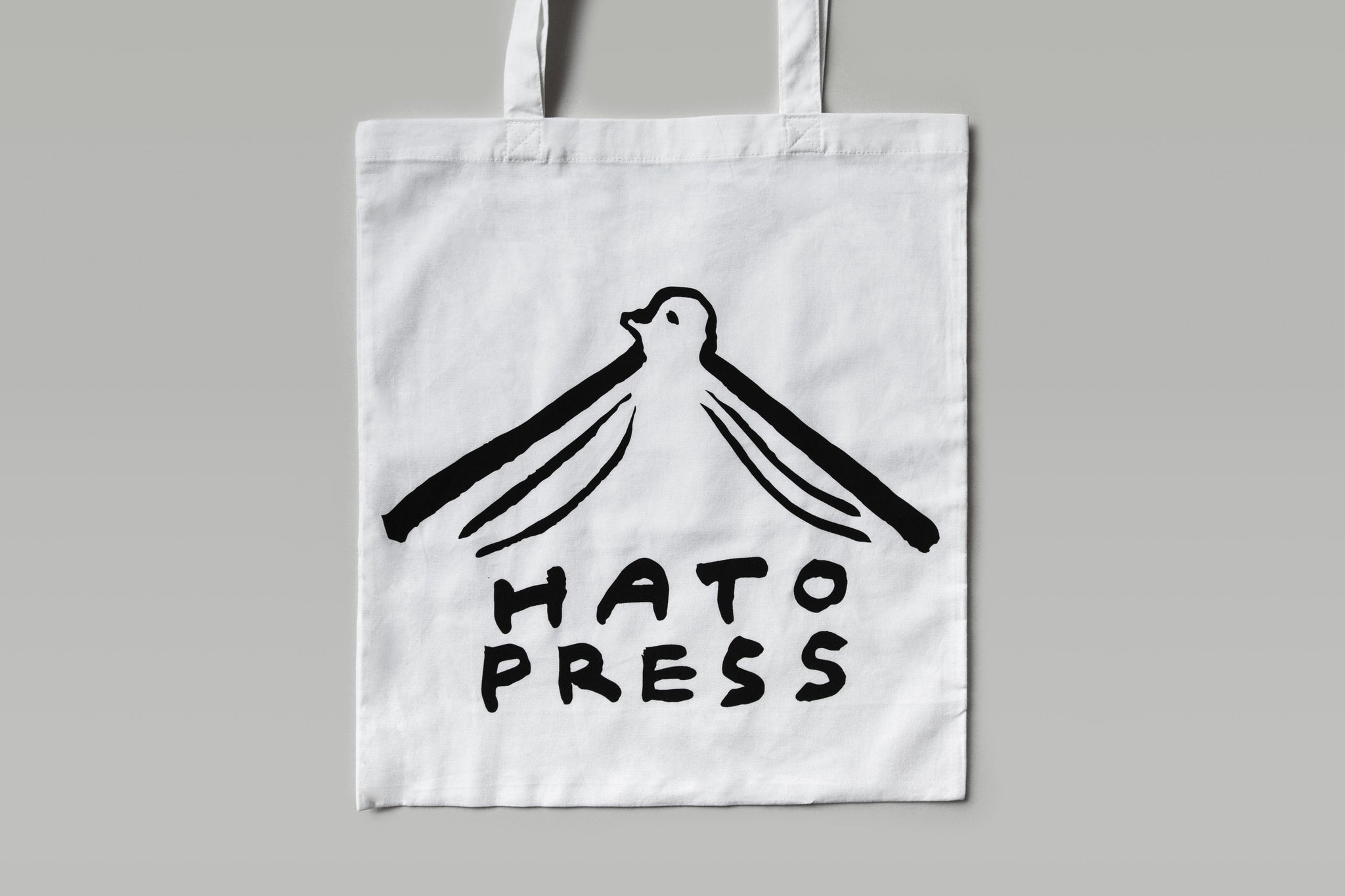Hato Logo Tote Bag (White)