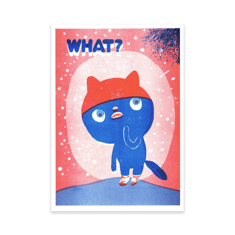 'What?' artist Print by OKIDO (Rachel Ortas)