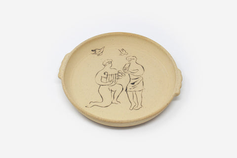 'Musicians' Ceramic Plate by Harry Darby & Anna Hodgson