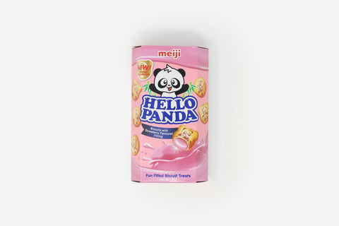 Meiji Hello Panda Strawberry Cream Biscuits