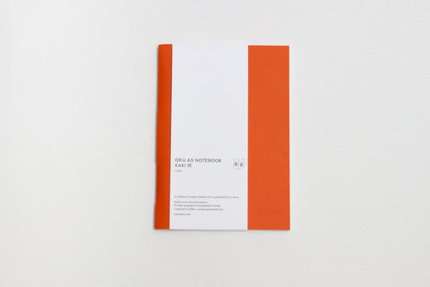 Oru Notebook: A5 Kaki Orange