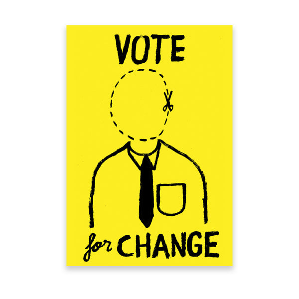 Vote for Change' Artist Print by Jean Jullien