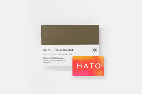 Hato Gift Package: Oru Notebook & 2 Colour Risograph Workshop Gift Card