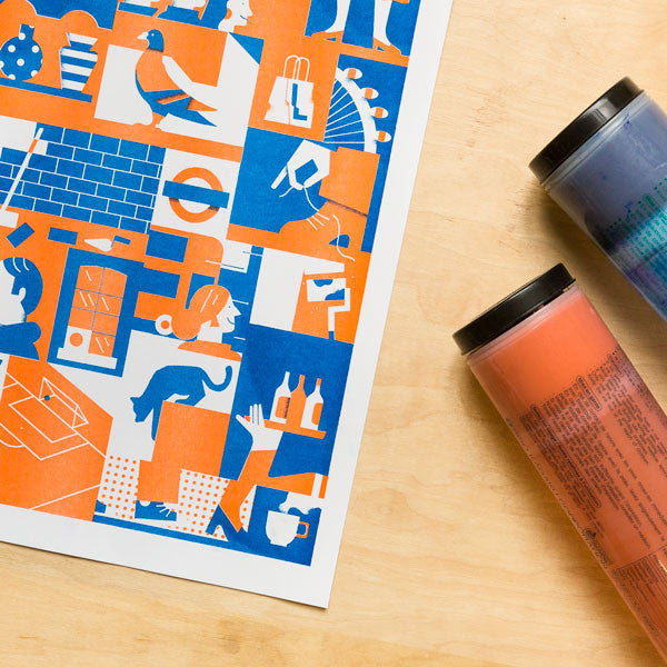 Two-colour Risograph Image Making Workshop (A3 Print) with Hato Press: Wednesday 21st March 19.00 — 21.30