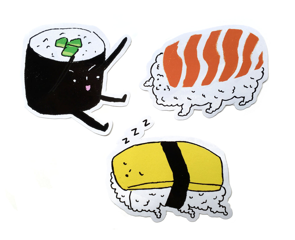 Sushi Stickers by Charlene Man