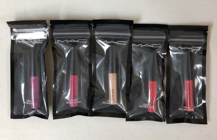 WHOLESALE ASSORTED MAC LIPGLASS LIP GLOSS ASSORTED - 36 PIECE LOT