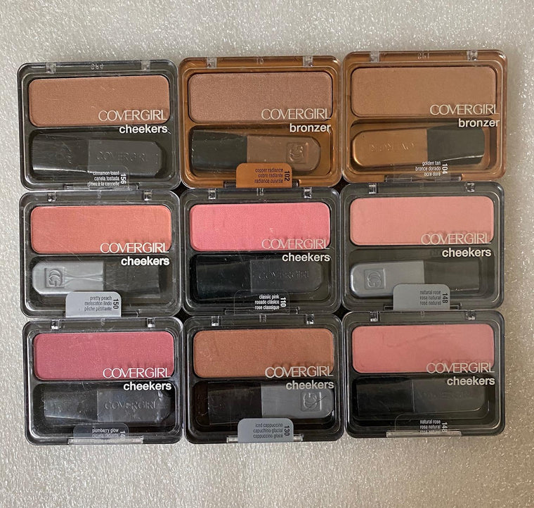 WHOLESALE COVERGIRL CHEEKERS BLUSH & BRONZER ASSORTED - 50 PIECE LOT