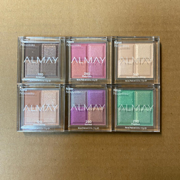 WHOLESALE ASSORTED ALMAY EYESHADOW QUAD - 50 PIECE LOT
