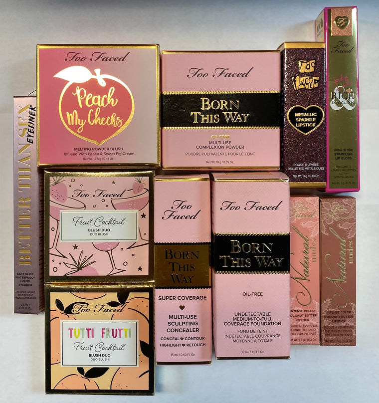 WHOLESALE ASSORTED TOO FACED COSMETICS LOT - 50 PIECE LOT
