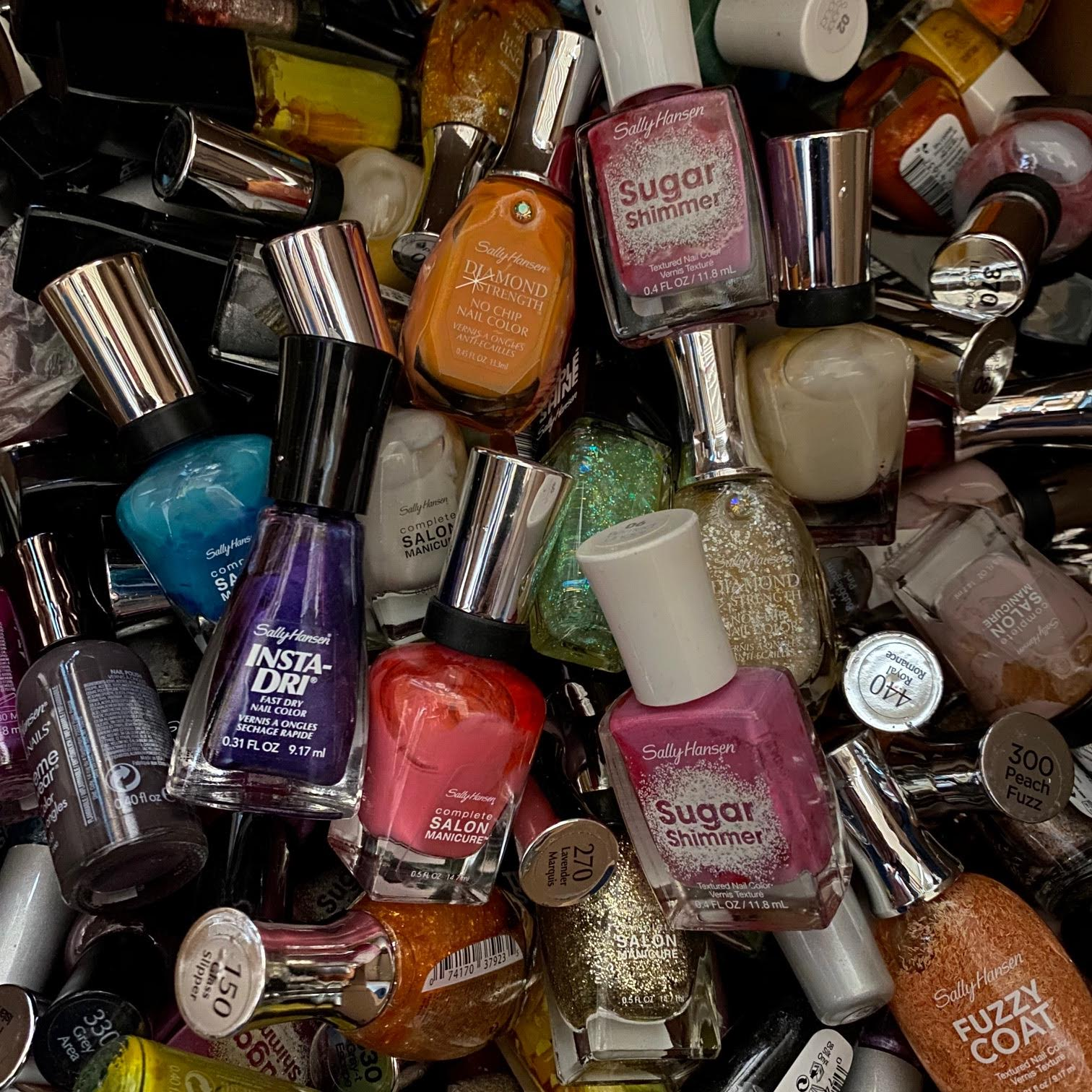 WHOLESALE SALLY HANSEN NAIL POLISH ASSORTED - DIFFERENT TYPES AND COLORS - 100 PIECE LOT